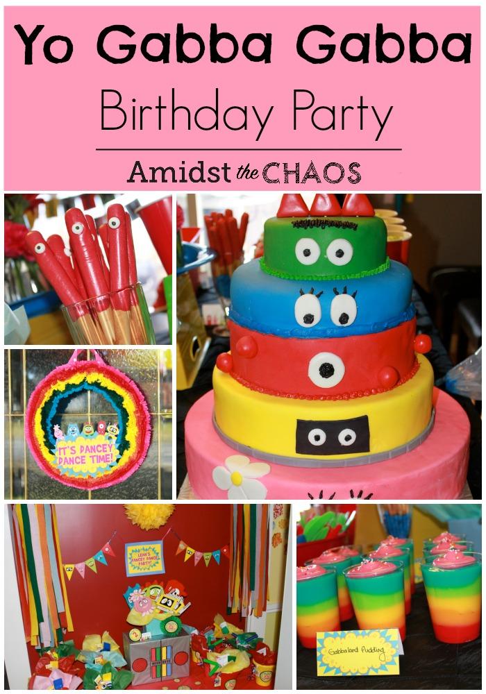 Cool Yo Gabba Gabba Birthday Party Amidst The Chaos Funny Birthday Cards Online Inifofree Goldxyz