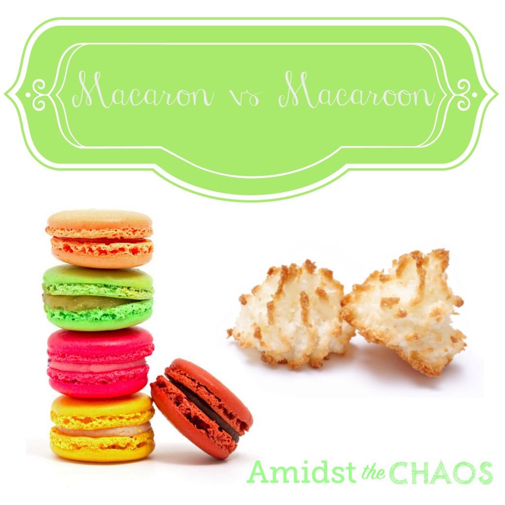 Macarons versus Macaroons
