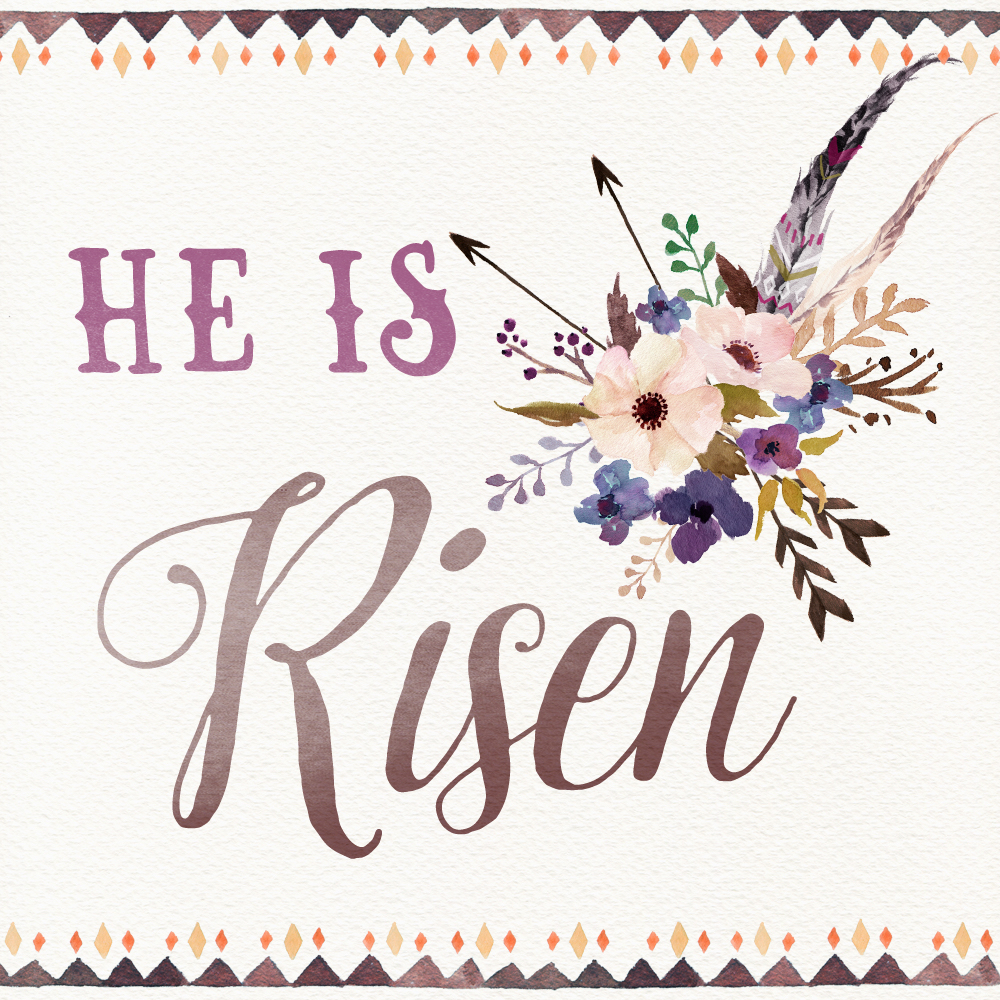 Genius image within he is risen printable