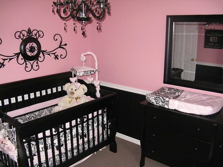 Baby Girl Room Ideas Pink And Black pretty in pink nursery - amidst the chaos