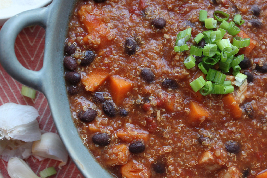 Slow Cooker Sweet Potato & Quinoa Soup