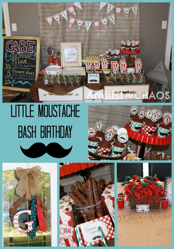 Little Moustache Bash Birthday
