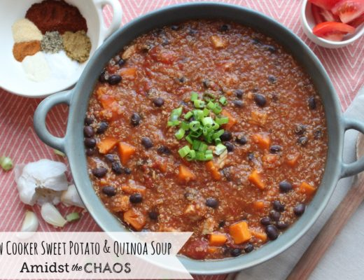 Slow Cooker Sweet Potato & Quinoa Soup