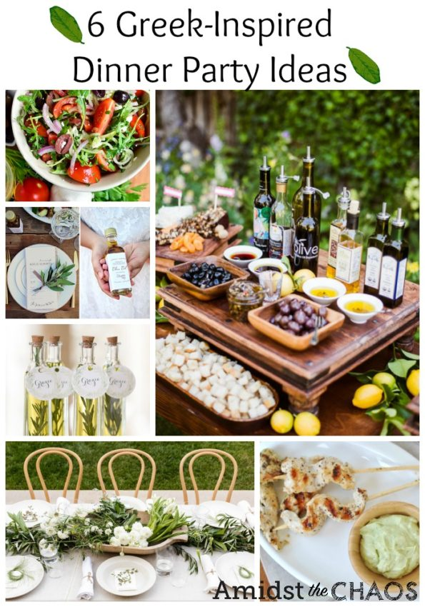 Greek Inspired Dinner Party Ideas