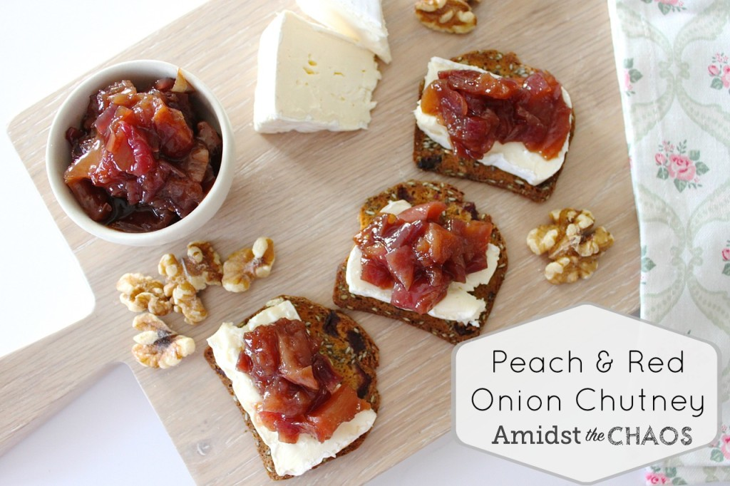 Peach & Red Onion Chutney
