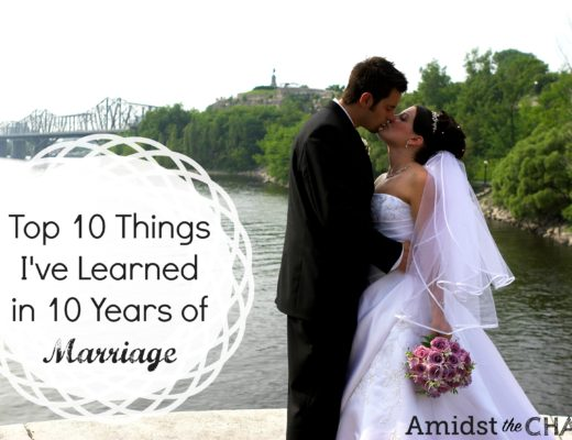 Top 10 Things I've Learned in 10 Years of Marriage