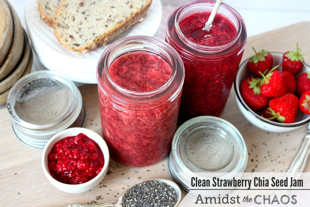 Clean Strawberry Chia Seed Jam