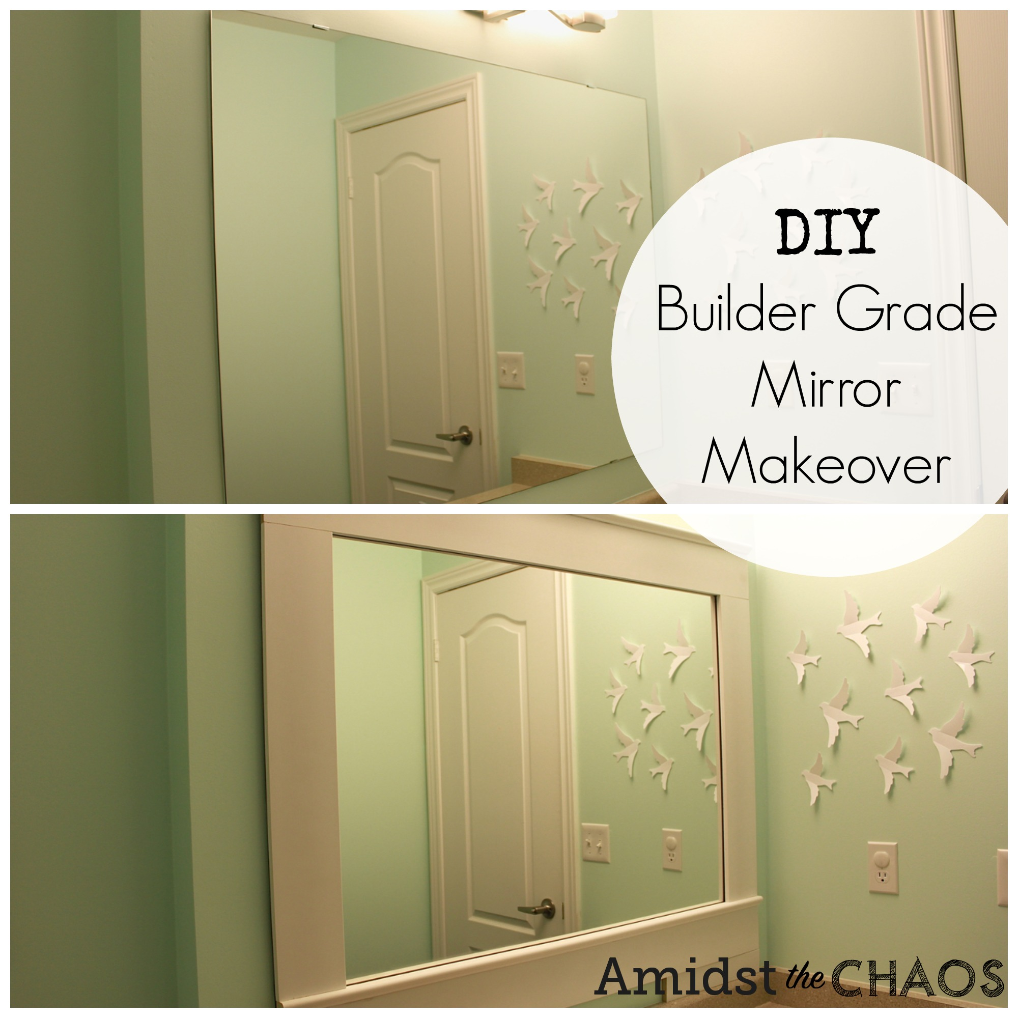 builder bathroom makeover diy builder grade mirror makeover amidst the chaos 12201
