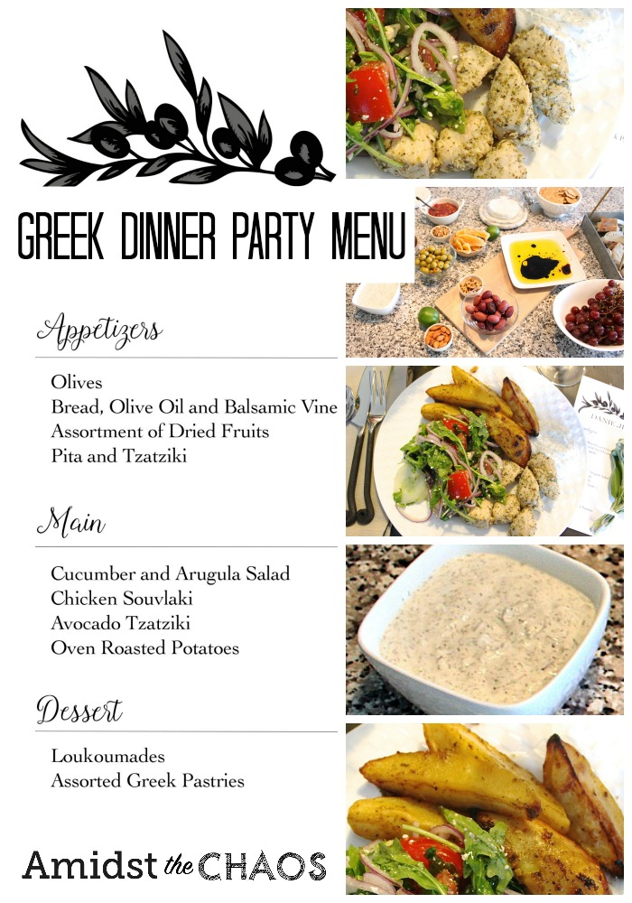 Greek Inspired Dinner Party Part 2