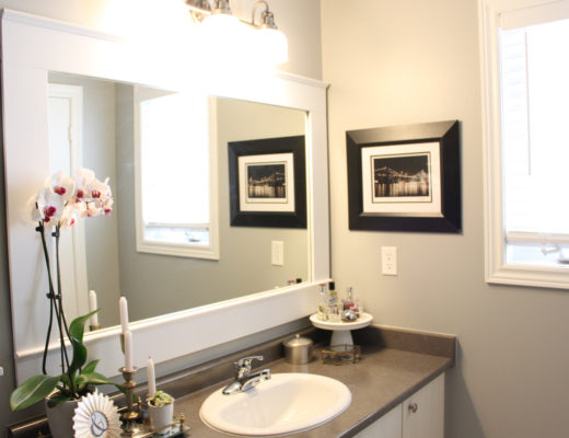 DIY Builder Grade Mirror Makeover