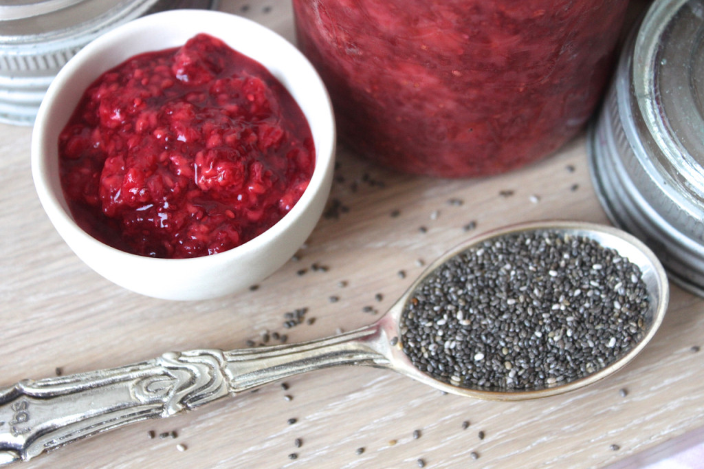 Clean Strawberry & Raspberry Chia Seed Jam