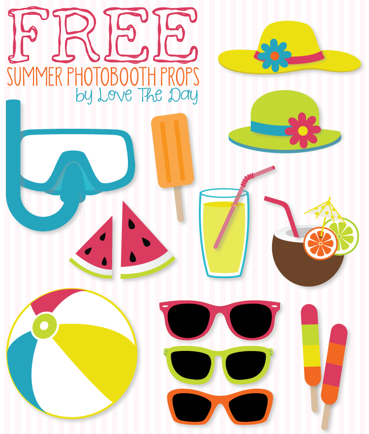 Free Beach Party Printables Round Up