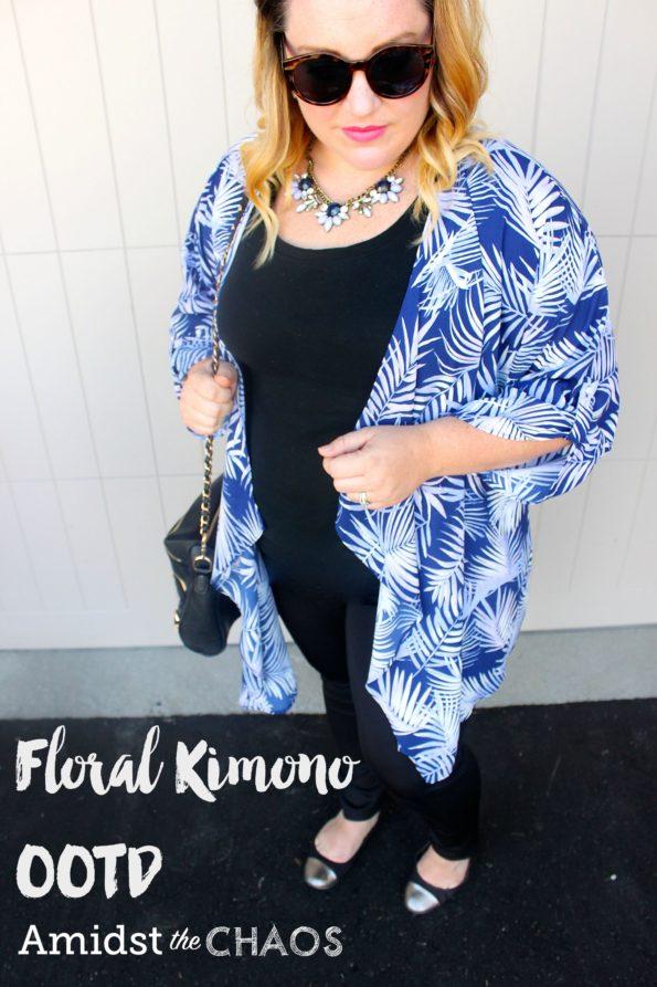 Floral Kimono OOTD