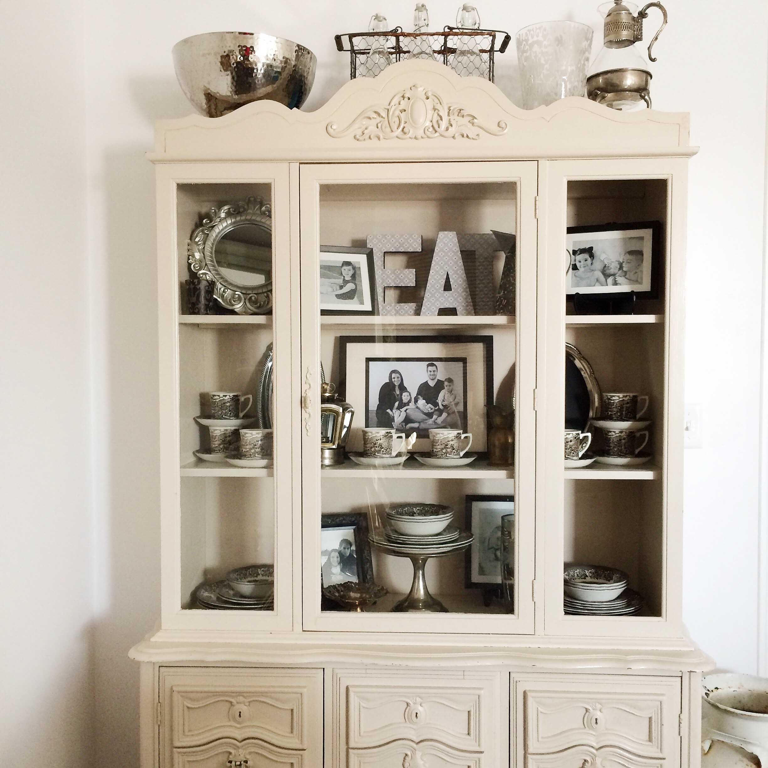 old gallery homestead cabinets dish painted farmhouse decoration cabinet china lightly modern hutch slightly best the chalk in distressed white