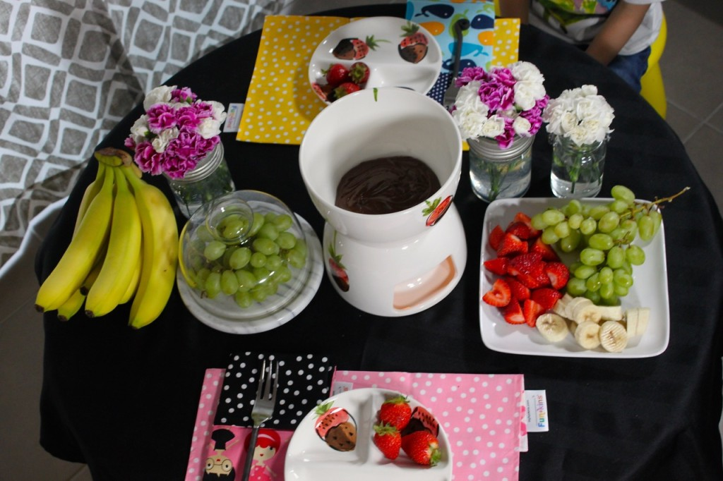 Fancy Afterschool snack + kids tablescape