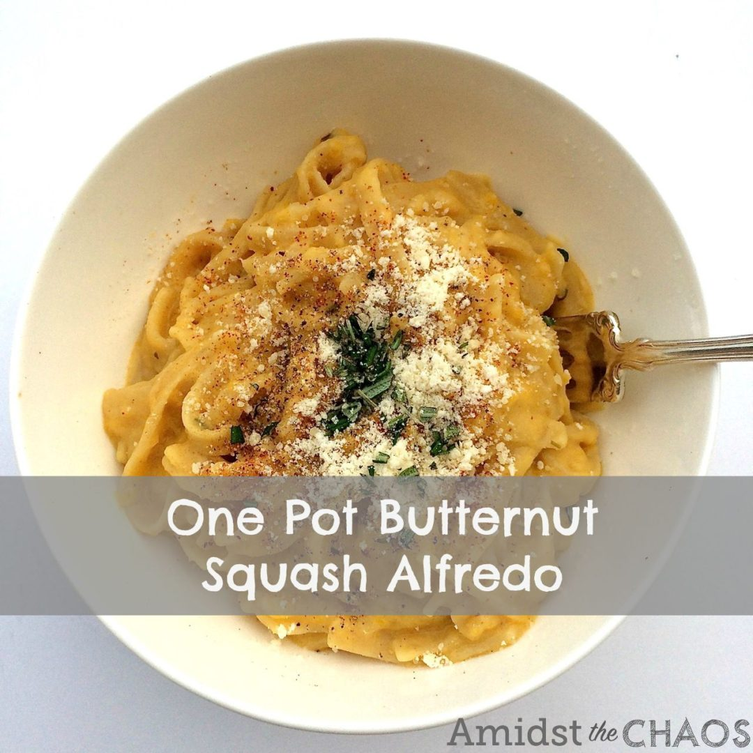 One Pot Butternut Squash Alfredo