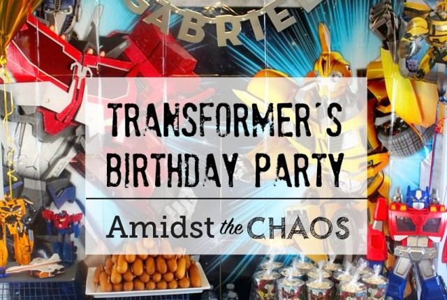 Transformer's Birthday Party