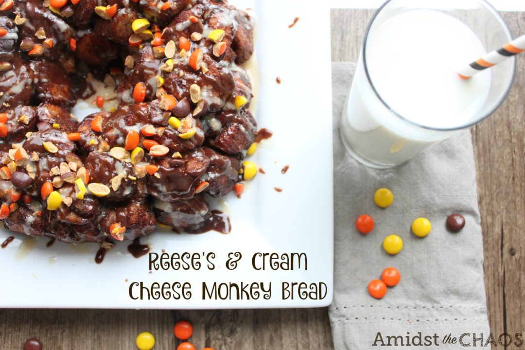 Reese's Spread & Cream Cheese Monkey Bread
