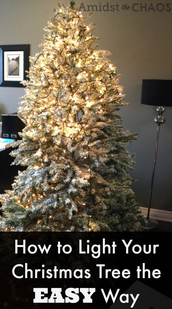 How to Light Your Christmas Tree the Easy Way