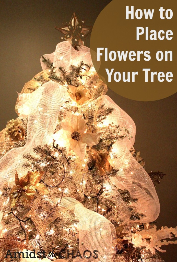 How to Place Flowers on Your Tree