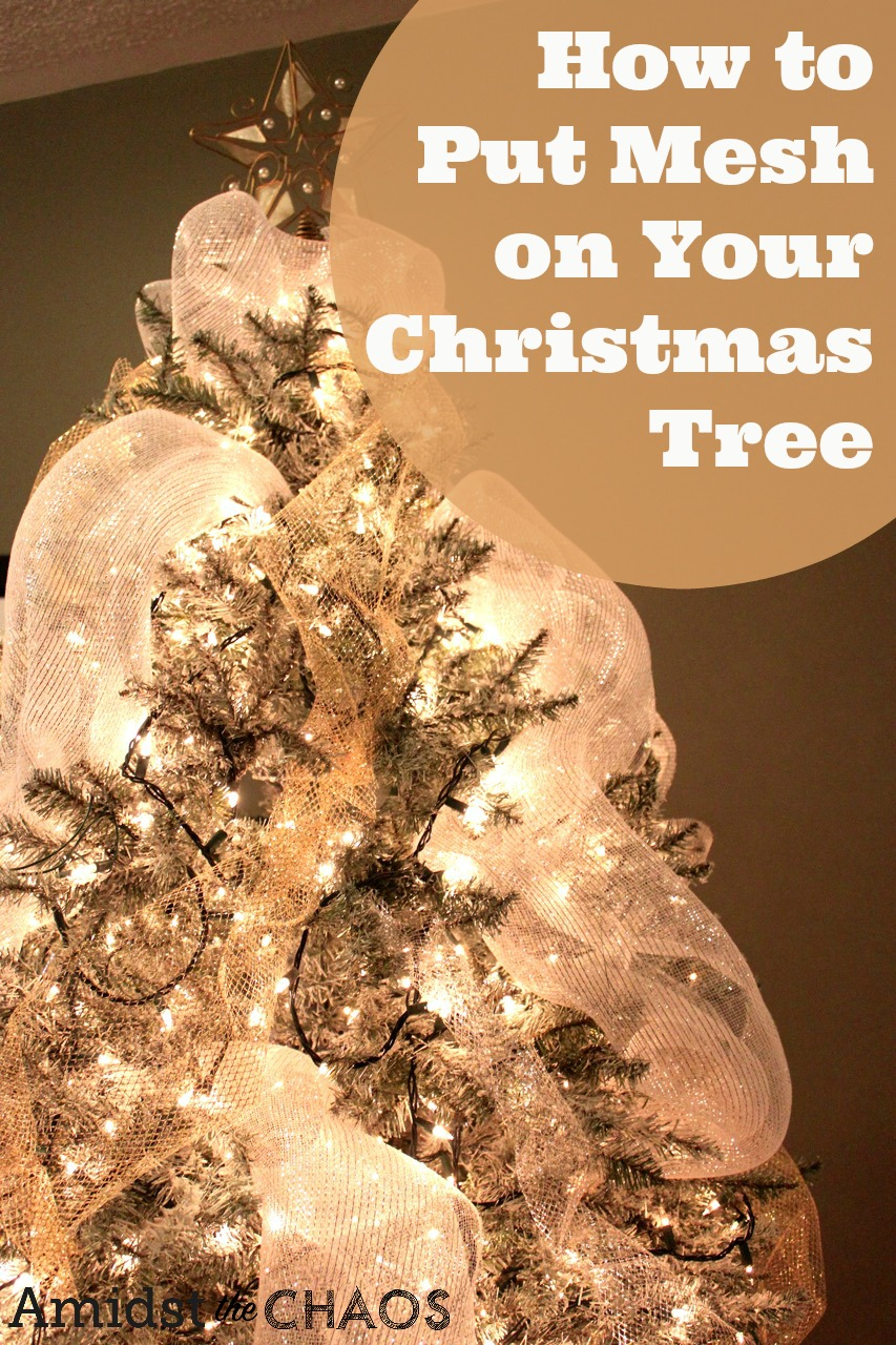 how to put mesh on your christmas tree