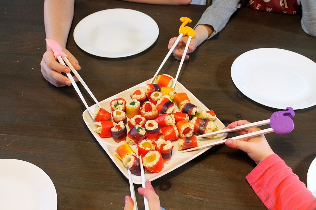 how to make fruit sushi