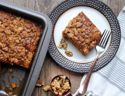 Pumpkin Walnut Spice Cake