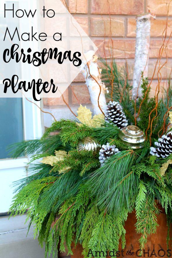 How to Make a Christmas Planter
