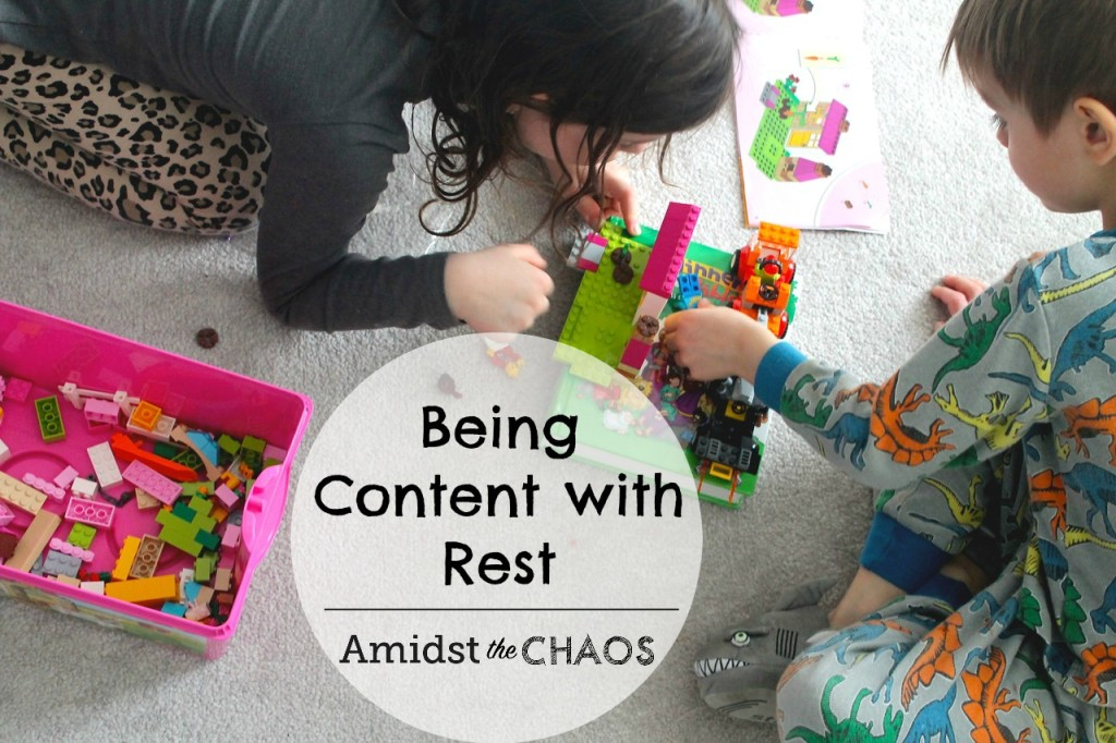 being content with rest