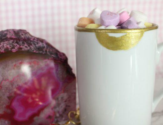 DIY Gold Lips Lip Tease Coffee Mug