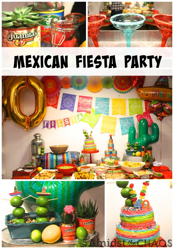 Fine A Mexican Fiesta Surprise 40Th Birthday Party Amidst The Chaos Birthday Cards Printable Benkemecafe Filternl