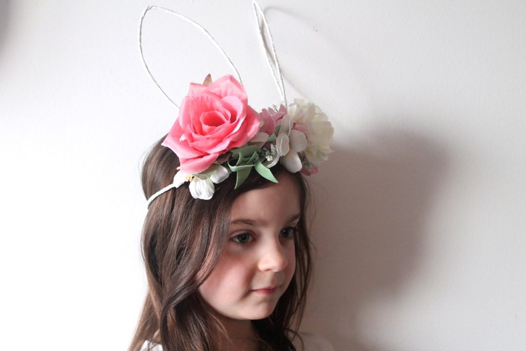 DIY Bunny Ears Floral Crown Tutorial