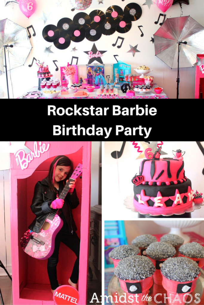 Rockstar Barbie Birthday Party