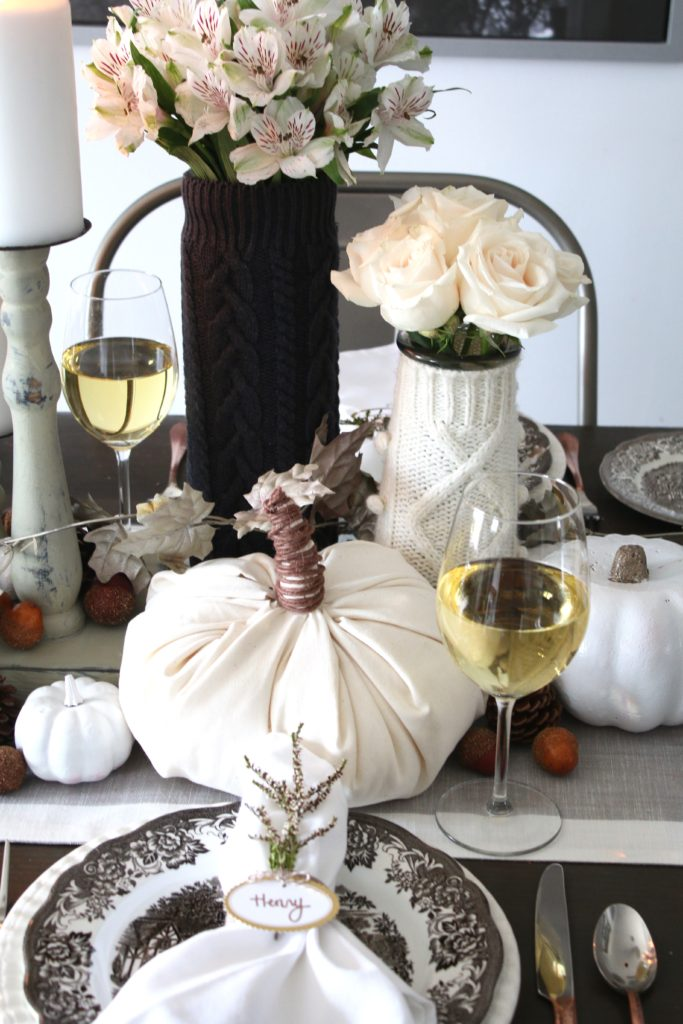 Canadian Bloggers Fall Home Tour Kitchen Tablescape