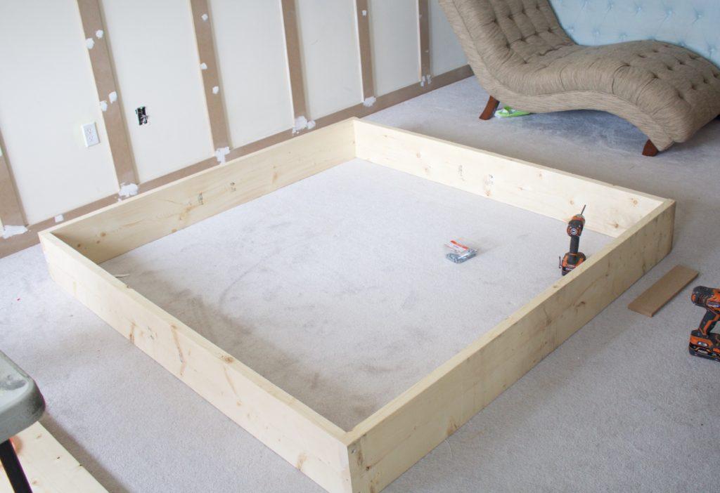 diy platform bed master bedroom one room challenge