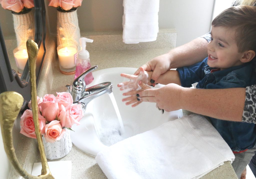 dial proper hand washing to prevent germs