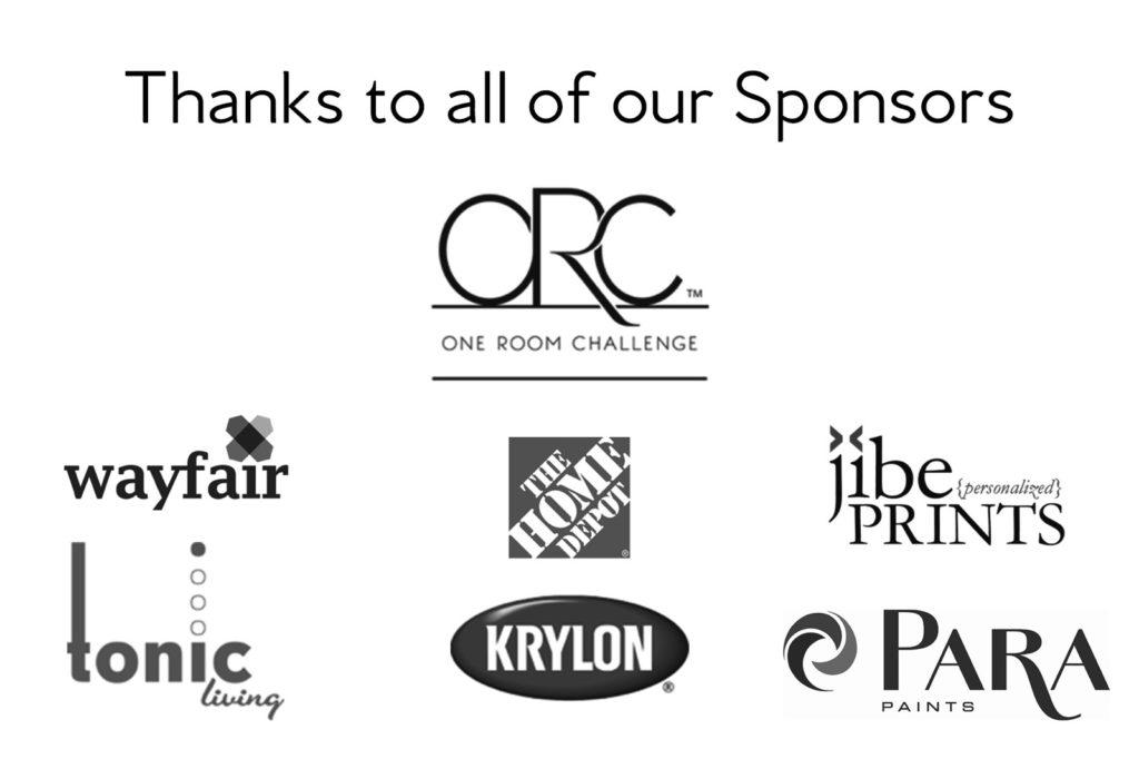 one room challenge sponsors