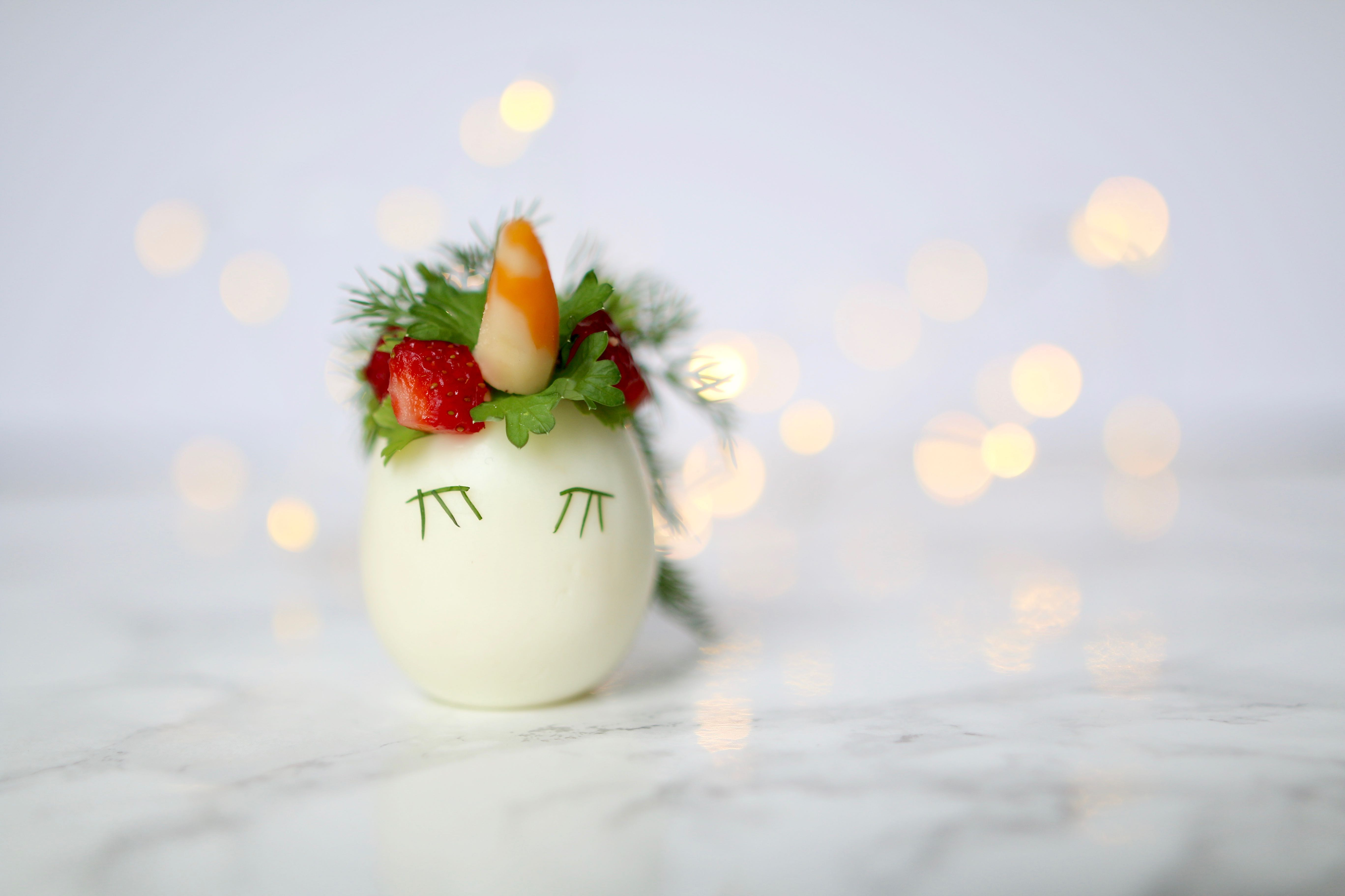 Healthy Unicorn Egg Snack With Eggs2go Amidst The Chaos