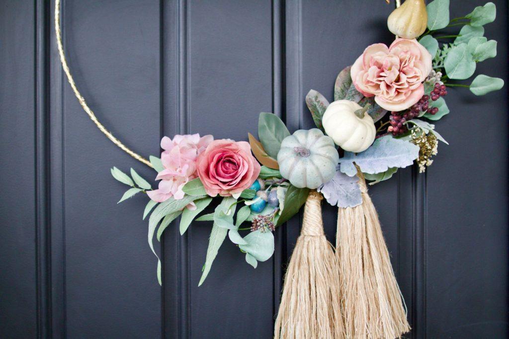 Diy Fall Hoop Wreath Amidst The Chaos