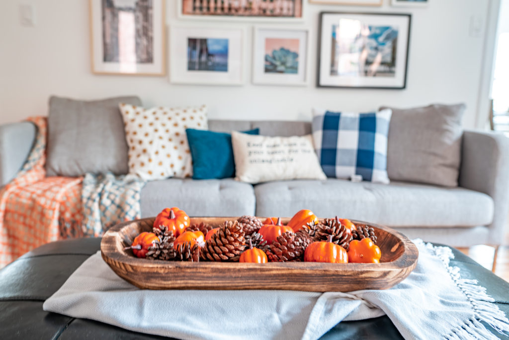 Blue And Orange Fall Home Decor Tour Amidst The Chaos