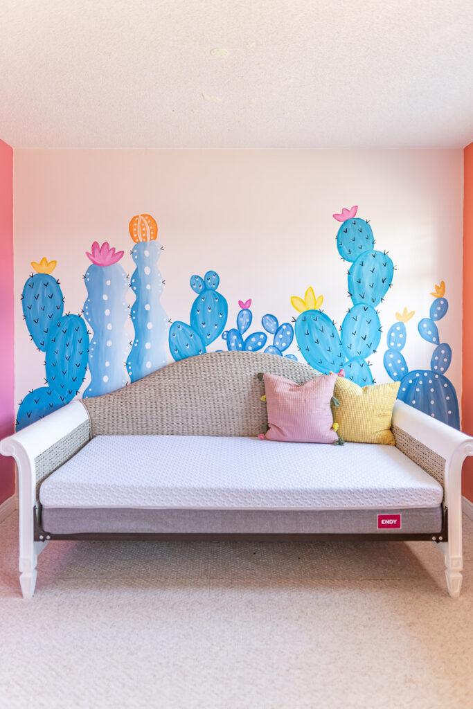 DIY-cactus-mural-watercolour